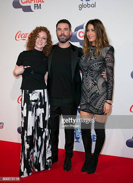 Jess Glynne Dave Berry and Lisa Snowdon attend the Jingle Bell Ball at The O2 Arena on December 5 2015 in London England