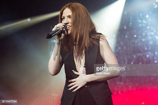 Jess Glynne performs at Brixton Academy on February 20 2016 in London England