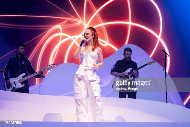 Jess Glynne performs at First Direct Arena on November 25, 2018 in Leeds, England.
