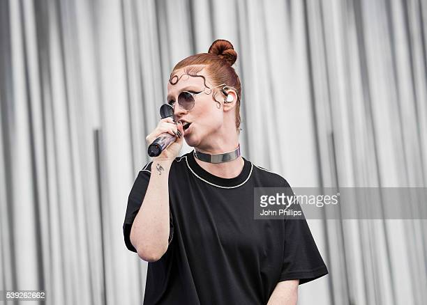 Jess Glynne performs at the Isle Of Wight Festival 2016 at Seaclose Park on June 9 2016 in Newport Isle of Wight