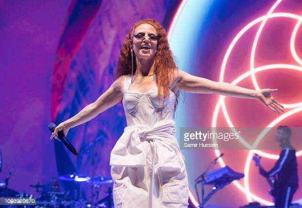 Jess Glynne performs live at The O2 Arena on November 20 2018 in London England