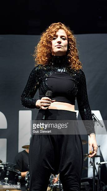 Jess Glynne performs on stage at Alexandra Palace on March 13 2015 in London United Kingdom