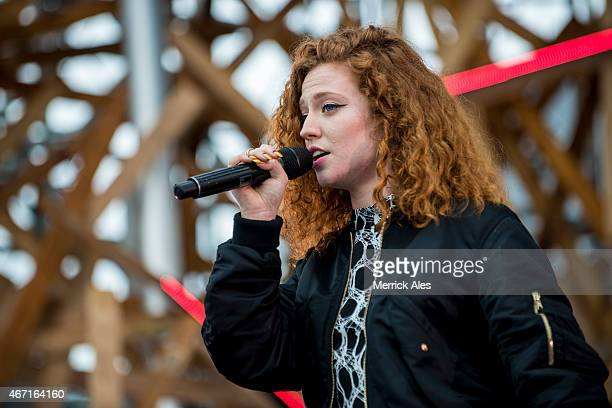 Jess Glynne performs with Clean Bandit onstage at the 2015 MTV Woodies Festival on March 20 2015 in Austin Texas