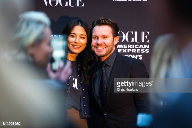 Jess Gomez and Nick Smith during Vogue American Express Fashion's Night Out 2017 on September 1 2017 in Melbourne Australia