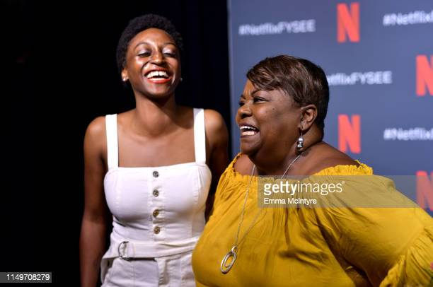 """Jess Guilbeaux and Tammye Hicks attend the Netflix FYSEE """"Queer Eye"""" panel and reception at Raleigh Studios on May 16, 2019 in Los Angeles,..."""