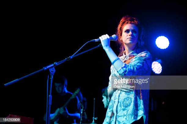 Jess Hall of Colour The Atlas performs on stage at O2 Academy Leicester on October 16, 2012 in Leicester, United Kingdom.