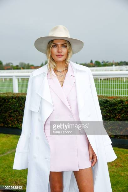 Jess Hart attends 2018 Caulfield Cup Day at Caulfield Racecourse on October 20 2018 in Melbourne Australia