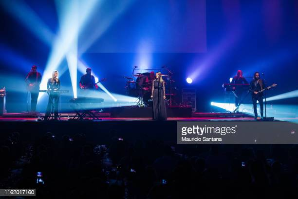 Jess Harwood James Harrison Emily Gervers Allan Cosgrove Scott Poley Etienne Girard Dave Goldberg of the band Rumours of Fleetwood Mac performs live...