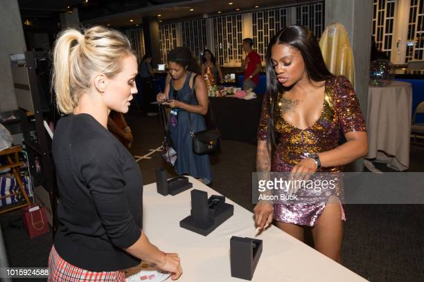 Jess Hilarious attends Backstage Creations Celebrity Retreat At Teen Choice 2018 Day 2 at The Forum on August 12 2018 in Inglewood California
