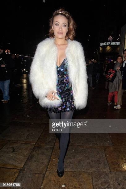 Jess Impiazzi arriving at Cafe de Paris on February 3 2018 in London England