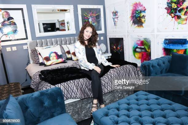 Jess Impiazzi attends the opening of Mystique Interiors at Mystique Interiors on March 29 2018 in Stockport England