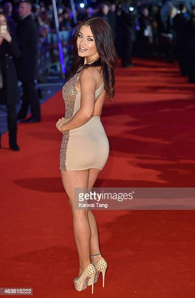 """Jess Impiazzi attends the World Premiere of """"The Gunman"""" at BFI Southbank on February 16, 2015 in London, England."""