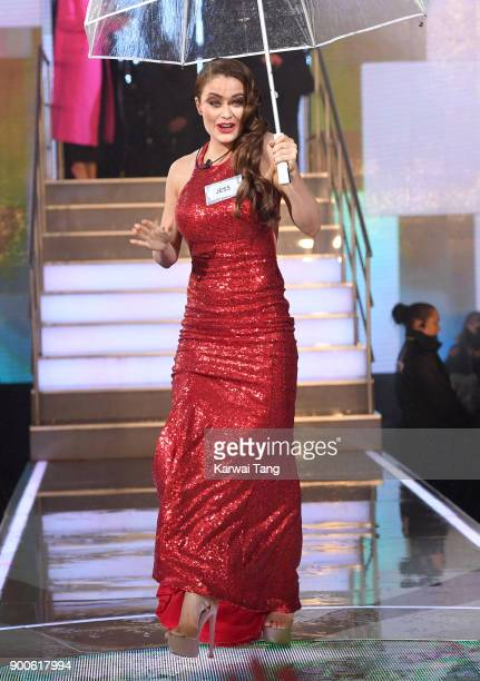 Jess Impiazzi enters the Celebrity Big Brother house on launch night at Elstree Studios on January 2 2018 in Borehamwood England