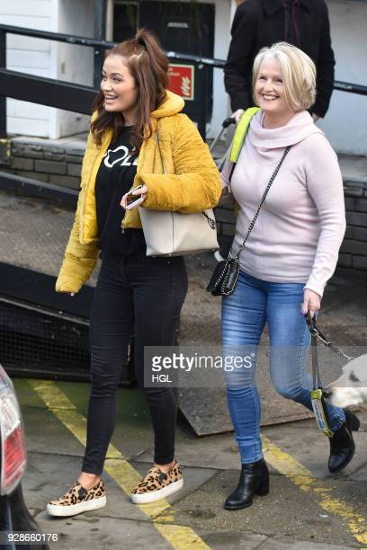 Jess Impiazzi her Mum Debbie seen at the ITV Studios on March 7 2018 in London England