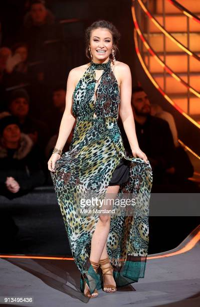 Jess Impiazzi is evicted during the 2018 Celebrity Big Brother Final at Elstree Studios on February 2 2018 in Borehamwood England