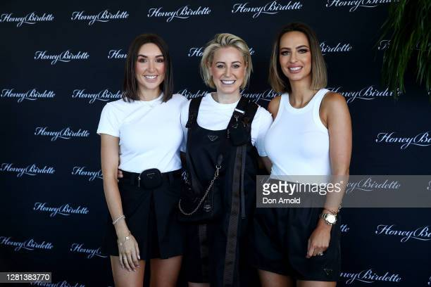 Jess Ingham and Roxy Jacenko attend the launch of the Honey Birdette Wet Swim Collection on October 21, 2020 in Sydney, Australia.