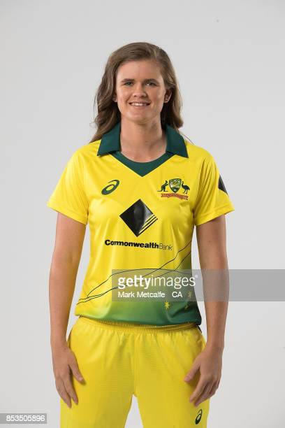 Jess Jonassen poses during a Cricket Australia Women's Player Camp at the Centre For Excellence on September 18 2017 in Brisbane Australia