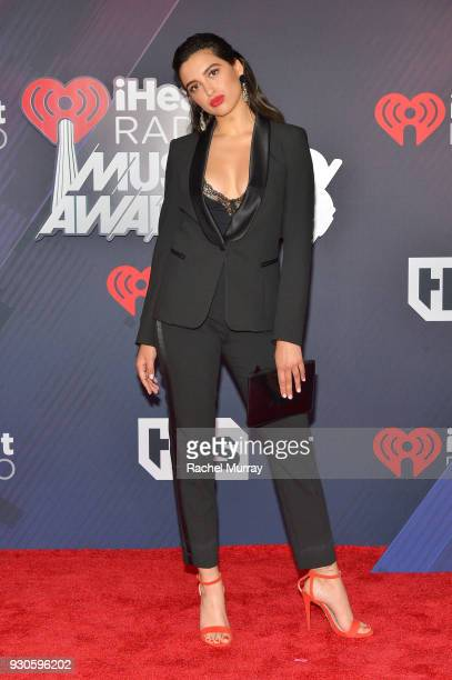 Jess Kent arrives at the 2018 iHeartRadio Music Awards which broadcasted live on TBS TNT and truTV at The Forum on March 11 2018 in Inglewood...