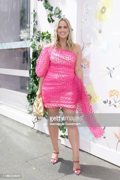 Jess King attends Oaks Day at Flemington Racecourse on November 07, 2019 in Melbourne, Australia.