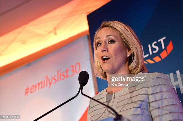 Jess McIntosh speaks at EMILY's List 30th Anniversary Gala at Washington Hilton on March 3 2015 in Washington DC