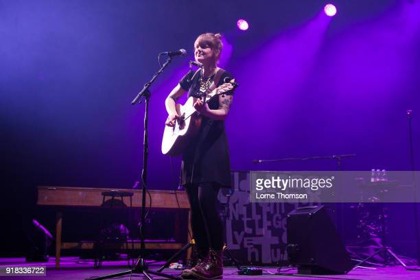 Jess Morgan performs at The O2 Arena on February 14 2018 in London England