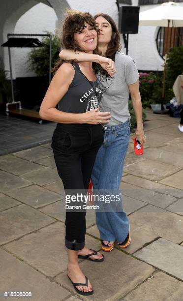 Jess Morris and Bella Freud attend the J Brand x Bella Freud garden tea party on July 18 2017 in London England