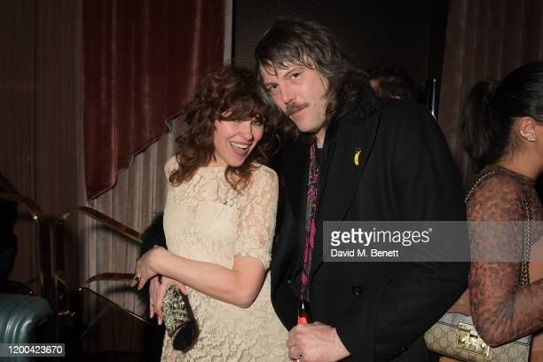 Jess Morris and Tim Rockins attend the NME Awards after party in association with Copper Dog at The Standard on February 12 2020 in London England