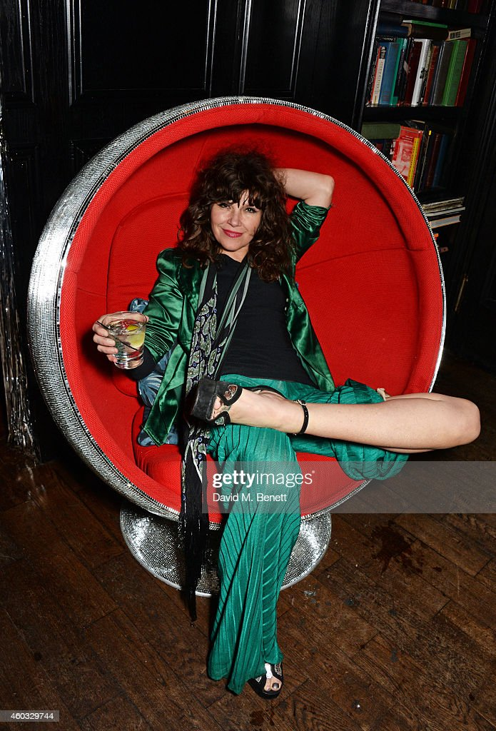 Jess Morris attends the Glam Rock Christmas party to celebrate the ...