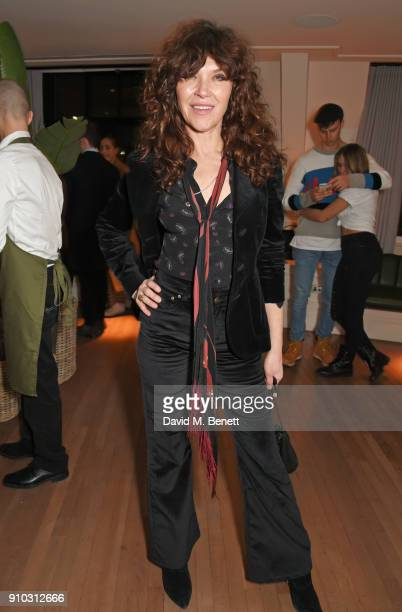 Jess Morris attends the launch of Teresa Tarmey's new 'at home facial system' at Mortimer House, sponsored by CIROC, on January 25, 2018 in London,...