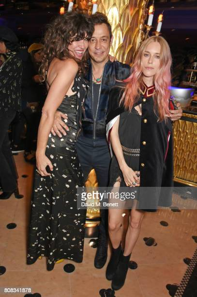 Jess Morris Jamie Hince and Mary Charteris attend the Rockins party to celebrate the Rockins Selfridges PopUp Shop at Park Chinois supported by Ciroc...