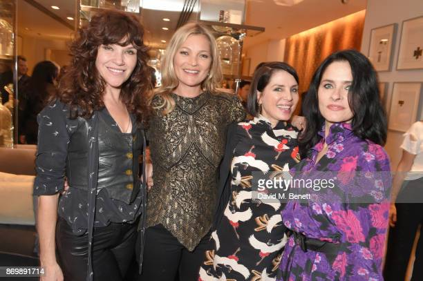 Jess Morris Kate Moss Sadie Frost and Juliette Larthe attend the launch of Decorte the Japanese luxury beauty brand with brand Ambassador Kate Moss...