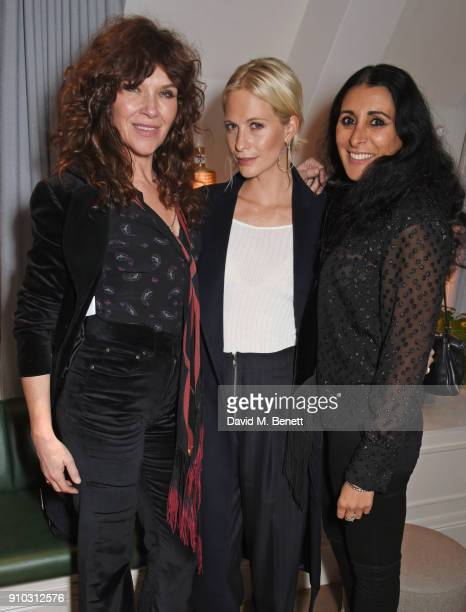 Jess Morris, Poppy Delevingne and Serena Rees attend the launch of Teresa Tarmey's new 'at home facial system' at Mortimer House, sponsored by CIROC,...