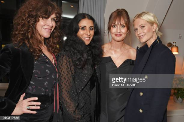 Jess Morris, Serena Rees, Teresa Tarmey and Poppy Delevingne attend the launch of Teresa Tarmey's new 'at home facial system' at Mortimer House,...