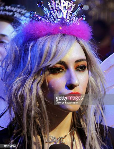 Jess Origliasso of the Veronicas attends a taping of the 2009 MTV New Year's Eve program at the MTV studios on December 15 2008 in New York City