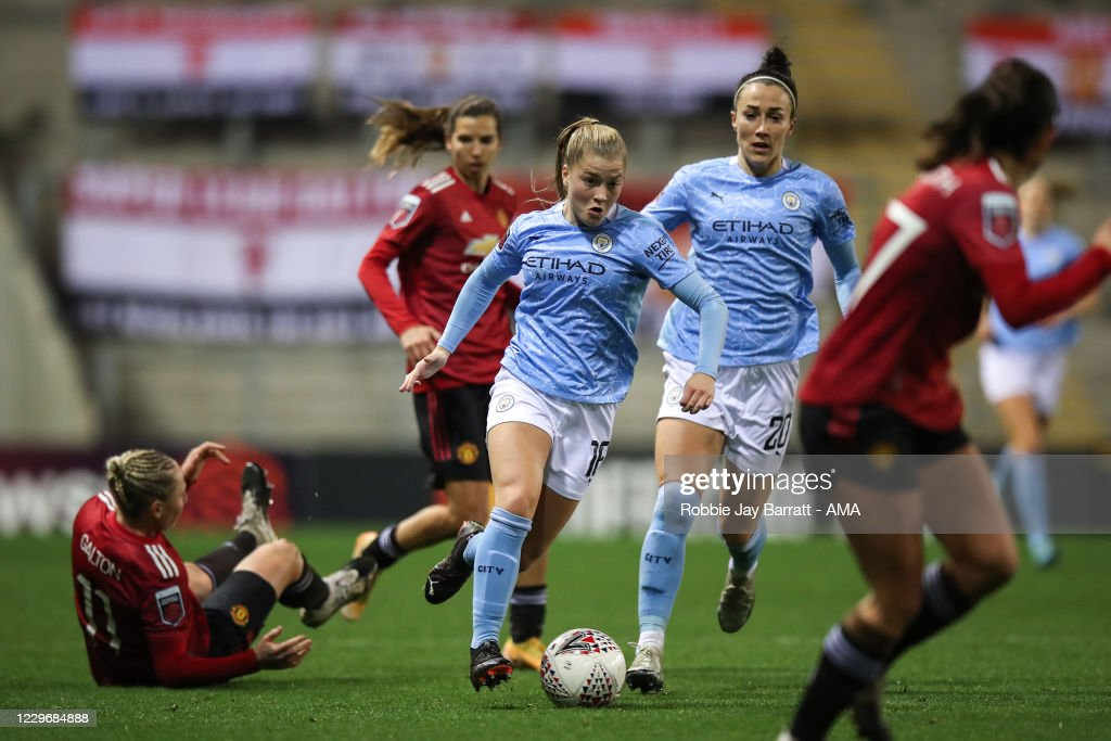 Manchester United v Manchester City - FA Women's Continental League Cup : News Photo