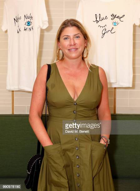 Jess Penchetti attends Rotten Roach X Poppy Paper Cuts hosted by Marissa Montgomery at Selfridges on July 3, 2018 in London, England.