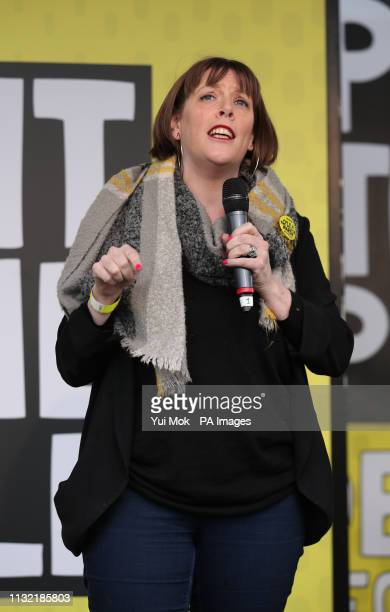 MP Jess Phillips addresses antiBrexit campaigners in Parliament Square as they take part in the People's Vote March in London