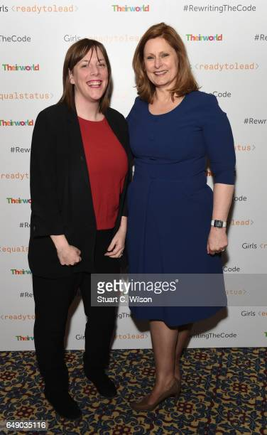 Jess Phillips and Sarah Brown attend Theirworld #RewritingTheCode International Women's Day Breakfast 2017 at The Institute of Directors on March 7...