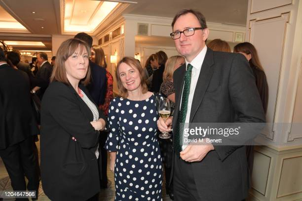 Jess Phillips Chief Executive of Cancer Research UK Michelle Mitchell and James Landale attend Turn The Tables 2020 hosted by Tania Bryer and James...
