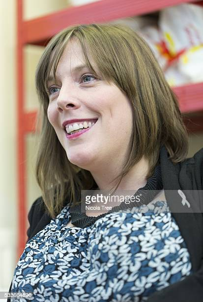 Jess Phillips in her Birmingham yardley constituency office being interviewed by students from Birmingham University