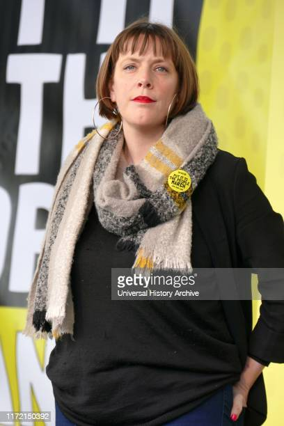 Jess Phillips Labour Member of Parliament for Birmingham Yardley addresses the 'People's Vote' march in Parliament Square London The People's Vote...