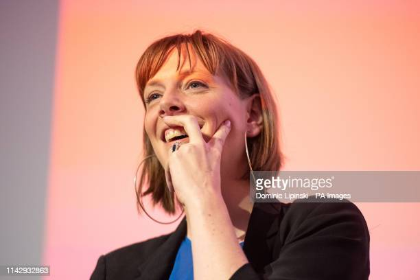 Jess Phillips speaking at the Progress annual conference at the TUC Congress Centre in Great Russell Street London