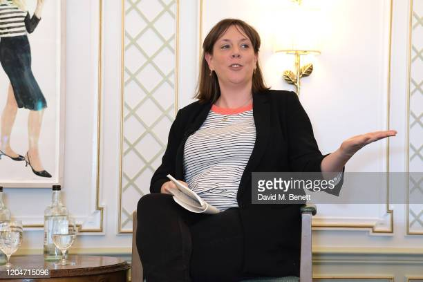 Jess Phillips speaks onstage at Turn The Tables 2020 hosted by Tania Bryer and James Landale in aid of Cancer Research UK at Fortnum Mason on March 2...