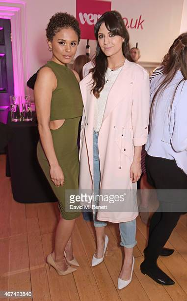 Jess Plummer and Lilah Parsons attend as Rochelle Humes presents her SS15 collection for verycouk at The Portico Rooms Somerset House on March 24...