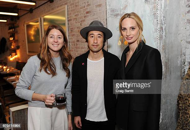 Jess Rawls Jonathan Crocket and Lauren Santo Domingo attend a holiday dinner in support of the UN Women's Global Movement For Gender Equality...