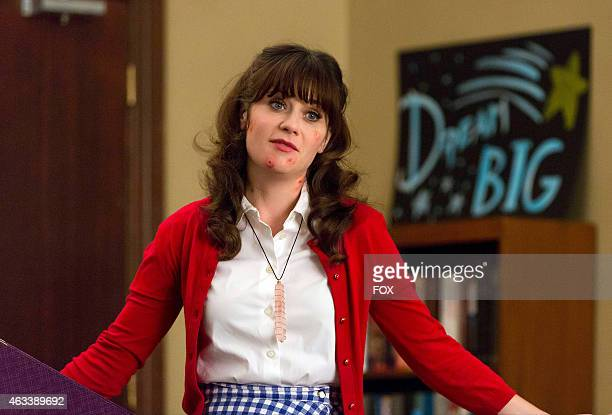 """Jess returns to work after the biology field trip with ugly bee stings in the """"Coming Out"""" episode of NEW GIRL airing Tuesday, Jan. 13, 2015 on FOX."""