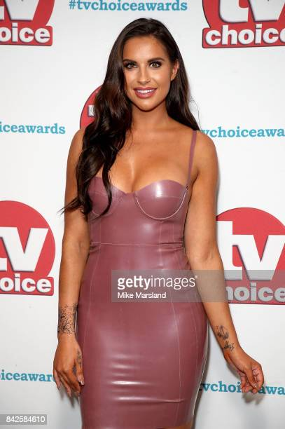 Jess Shears arrives for the TV Choice Awards at The Dorchester on September 4 2017 in London England