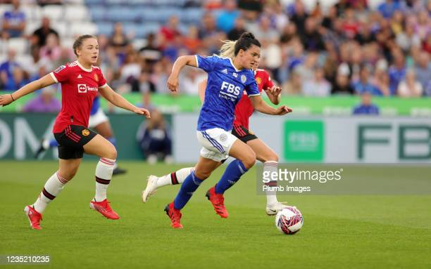 Jess Sigsworth of Leicester City Women in action during the Barclays FA Women's Super League match between Leicester City Women and Manchester United...