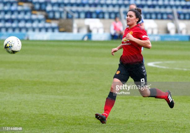 Jess Sigsworth of Manchester United Women during The SSE Womens FA Cup Quarter Final match between Reading FC Women and Manchester United Women at...