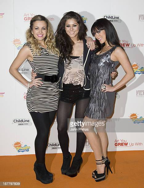 Jess Stickley Phoebe Brown And Daizy Agnew Arrive For The 'Spongebob Fancypants Art You Grew Up With' Charity Auction In Aid Of Childline At The...